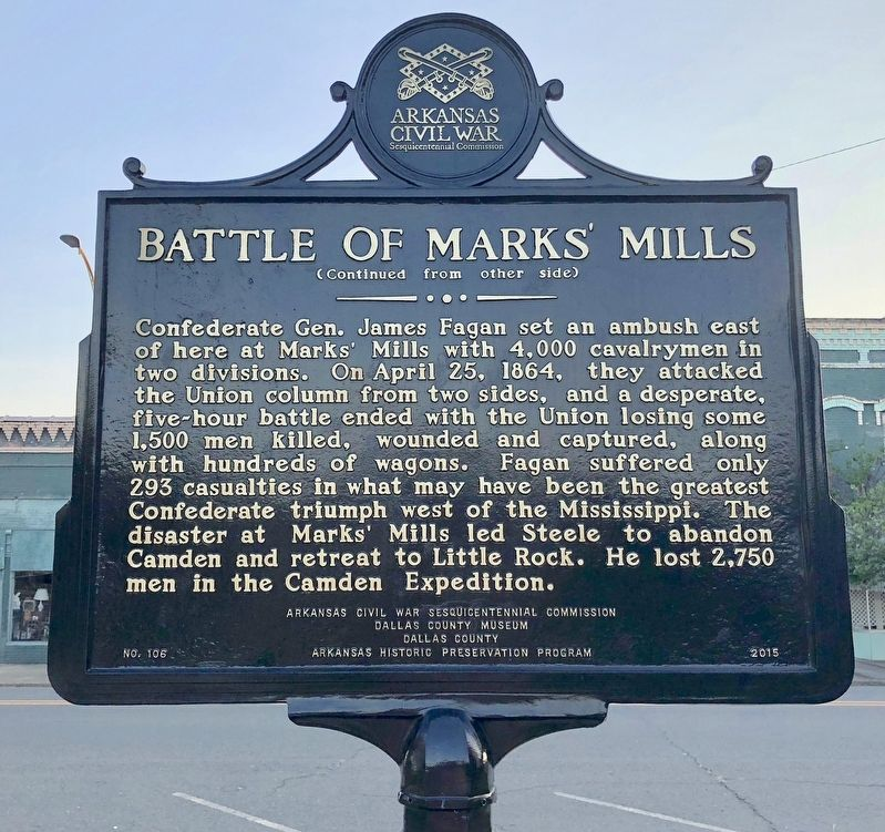 Battle of Marks' Mills Marker image, Touch for more information