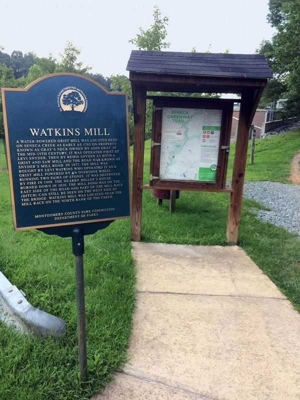 Watkins Mill Marker image. Click for full size.