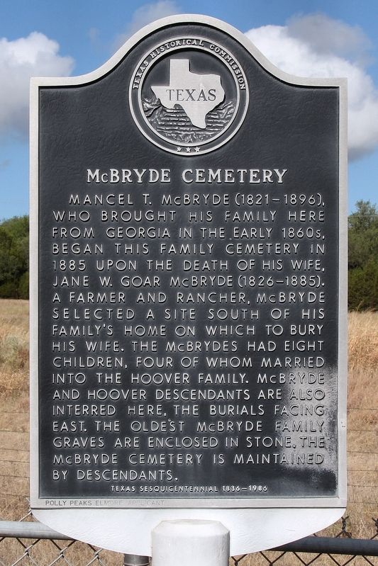 McBryde Cemetery Marker image. Click for full size.