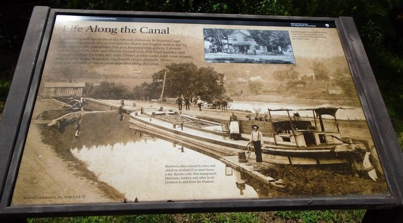 Life Along the Canal Marker image. Click for full size.