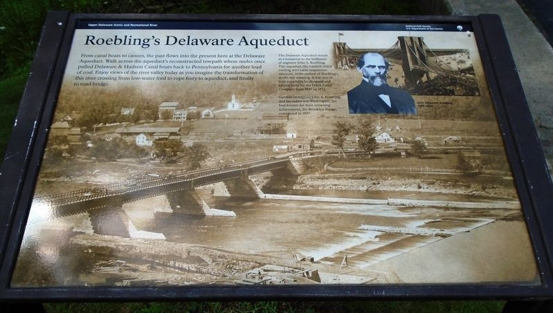 Roebling's Delaware Aqueduct Marker image. Click for full size.