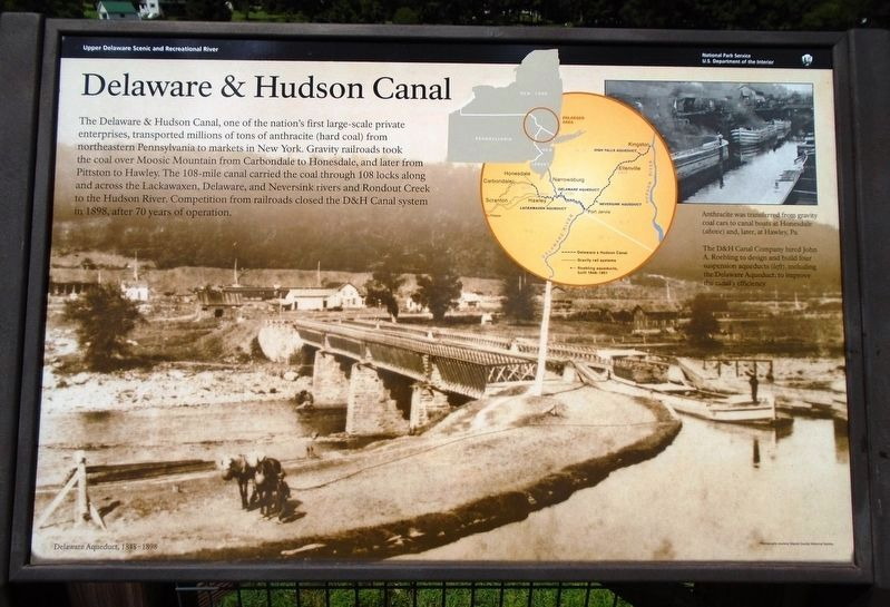 Delaware & Hudson Canal Marker image. Click for full size.