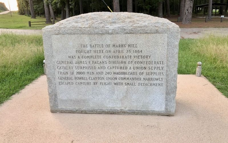 The Battle of Marks' Mill Marker (front) image. Click for full size.