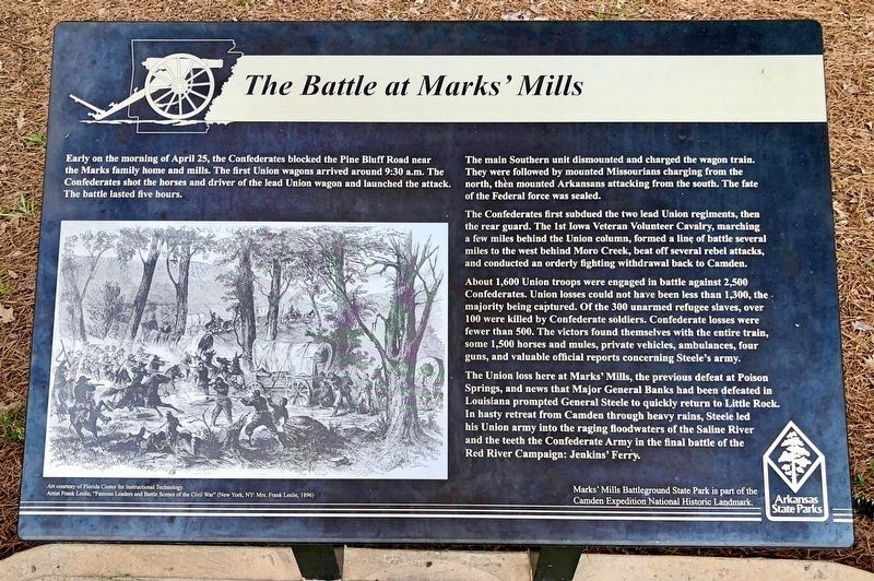 The Battle at Marks' Mill Marker image. Click for full size.