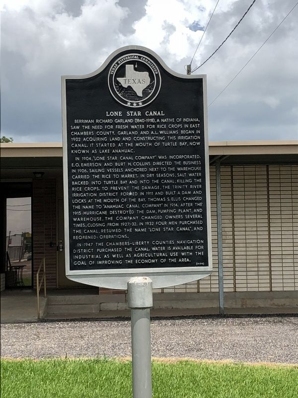 Lone Star Canal Marker image. Click for full size.