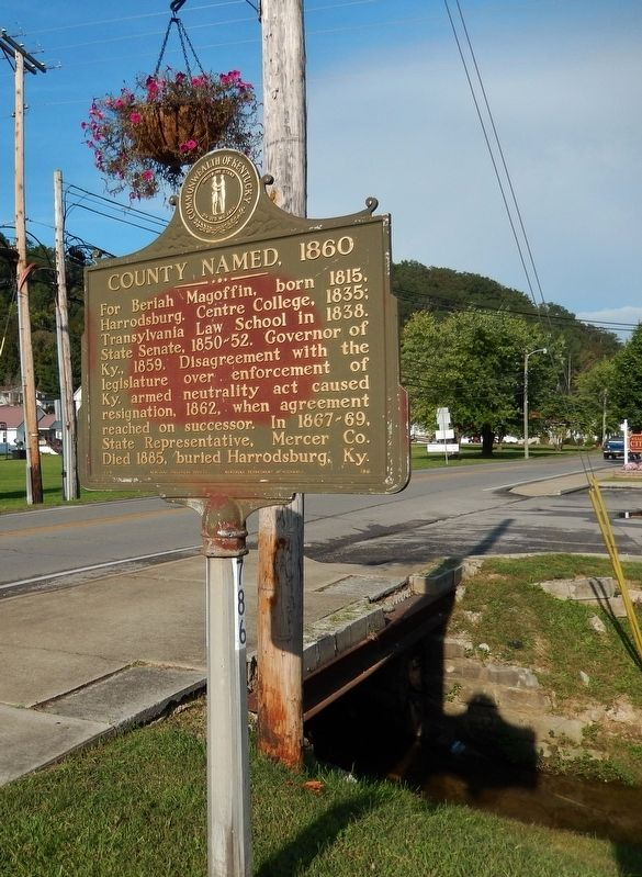 County Named, 1860 Marker (<i>tall view</i>) image. Click for full size.