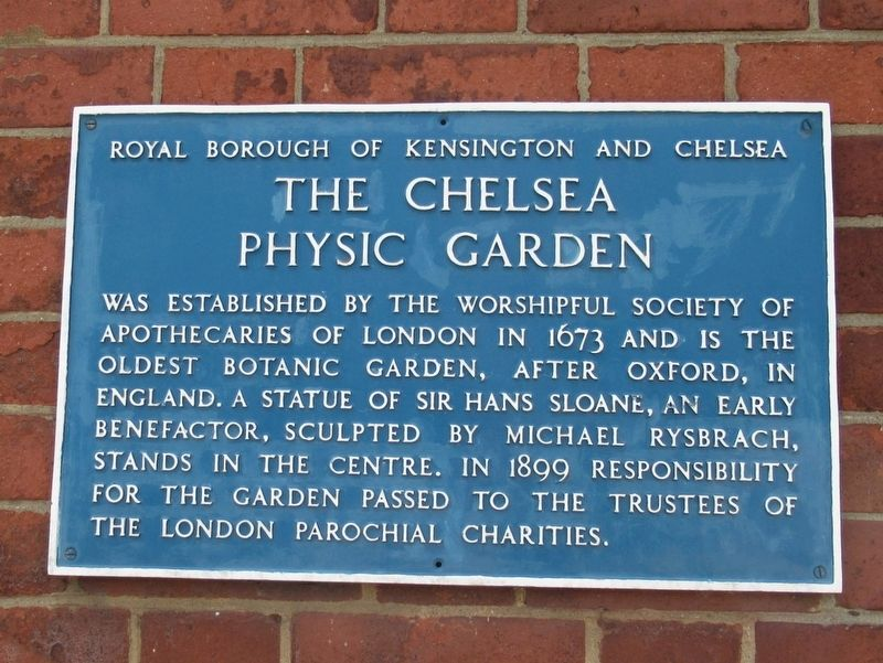 The Chelsea Physic Garden Marker image. Click for full size.