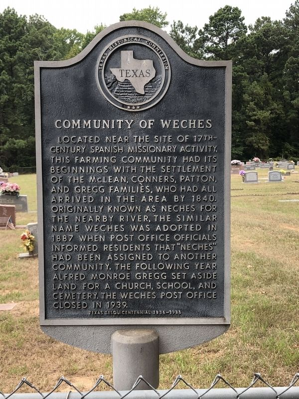Community of Weches Marker image. Click for full size.