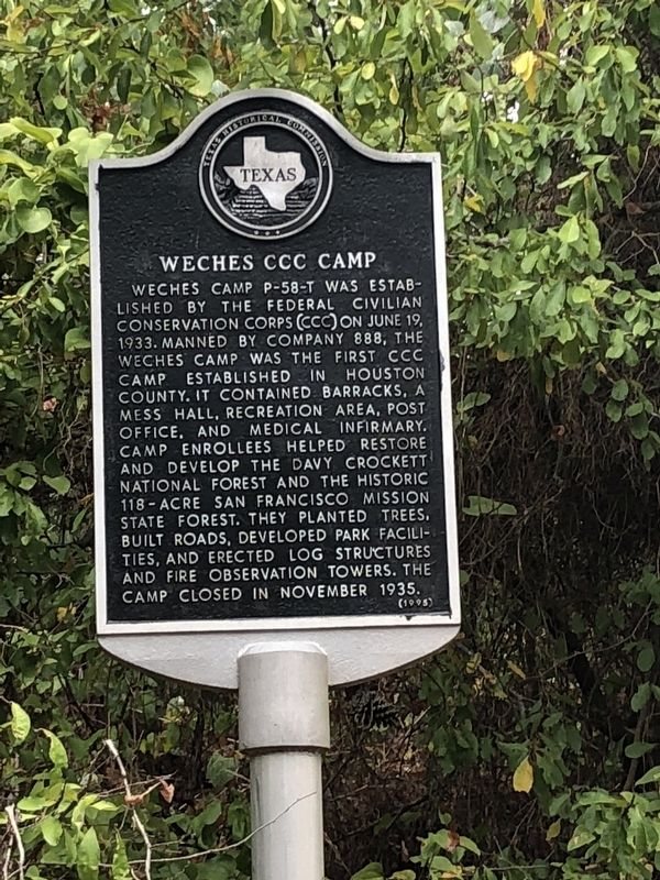 Weches CCC Camp Marker image. Click for full size.