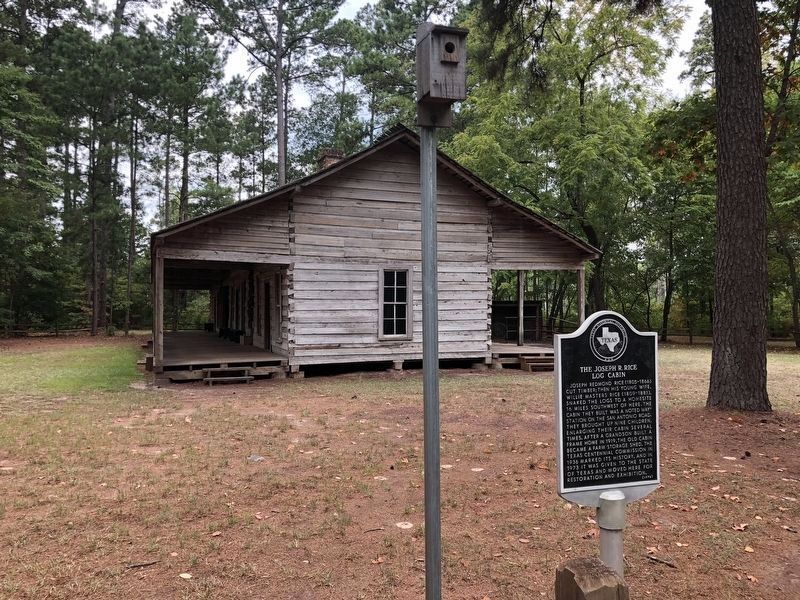 The Joseph R. Rice Log Cabin and Marker image. Click for full size.