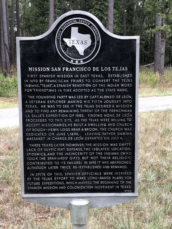 Mission San Francisco de Los Tejas Marker image. Click for full size.