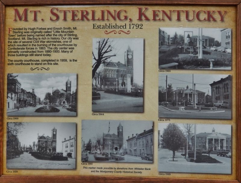 Mt. Sterling, Kentucky Marker image. Click for full size.