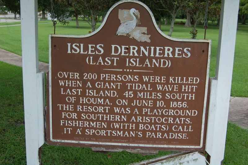 Isles Dernieres Marker (English Side) image. Click for full size.
