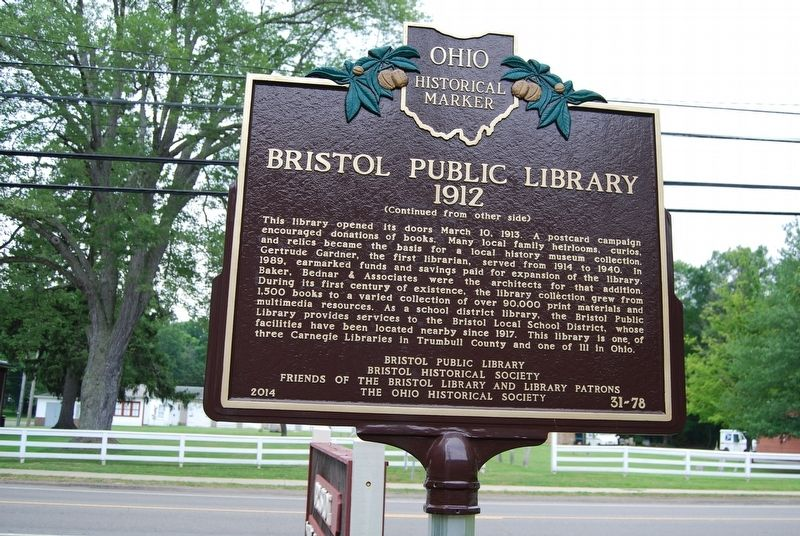 Bristol Public Library Marker image, Touch for more information