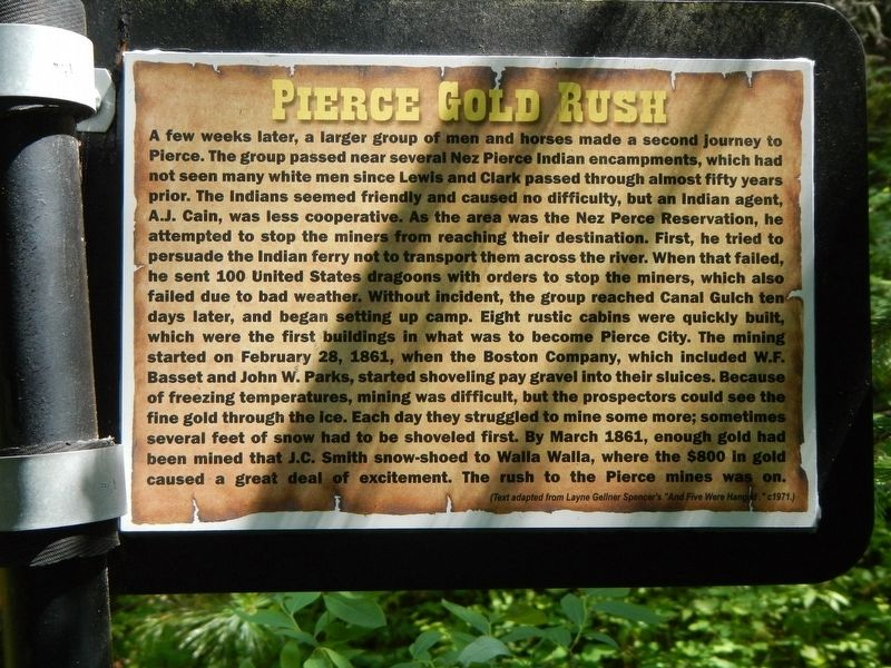 Pierce Gold Rush Marker image. Click for full size.