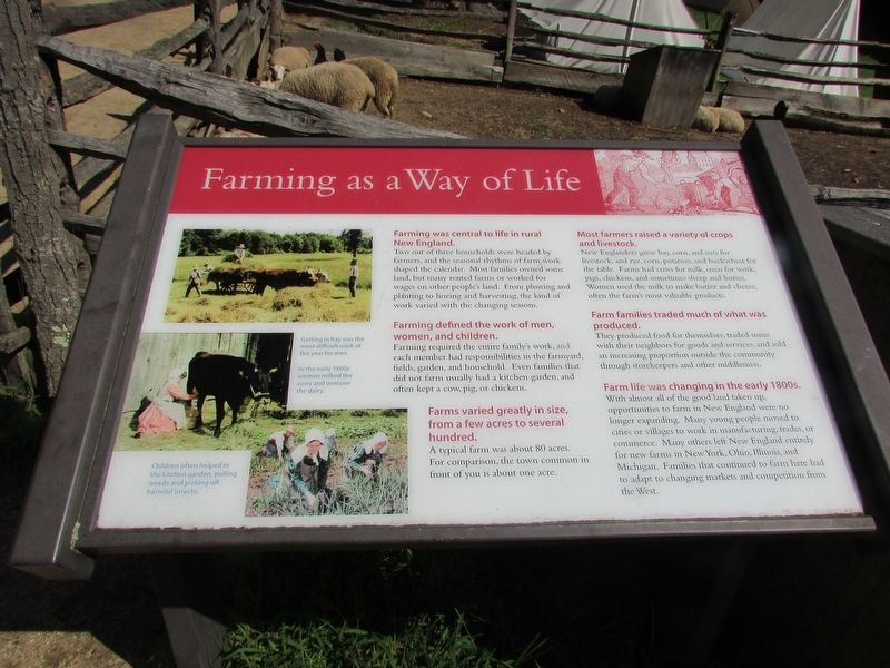 Farming as a Way of Life Marker image. Click for full size.
