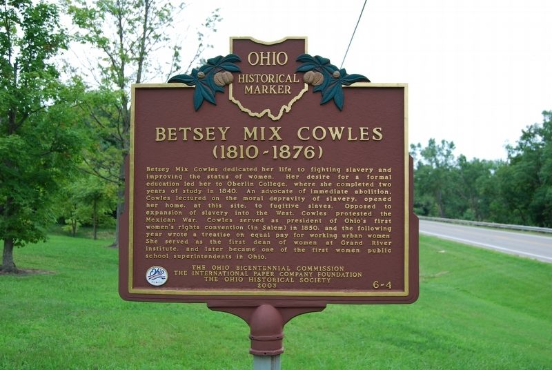Betsey Mix Cowles Marker image. Click for full size.