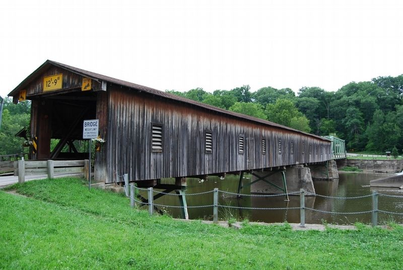 Harpersfield Covered Bridge Marker image. Click for full size.