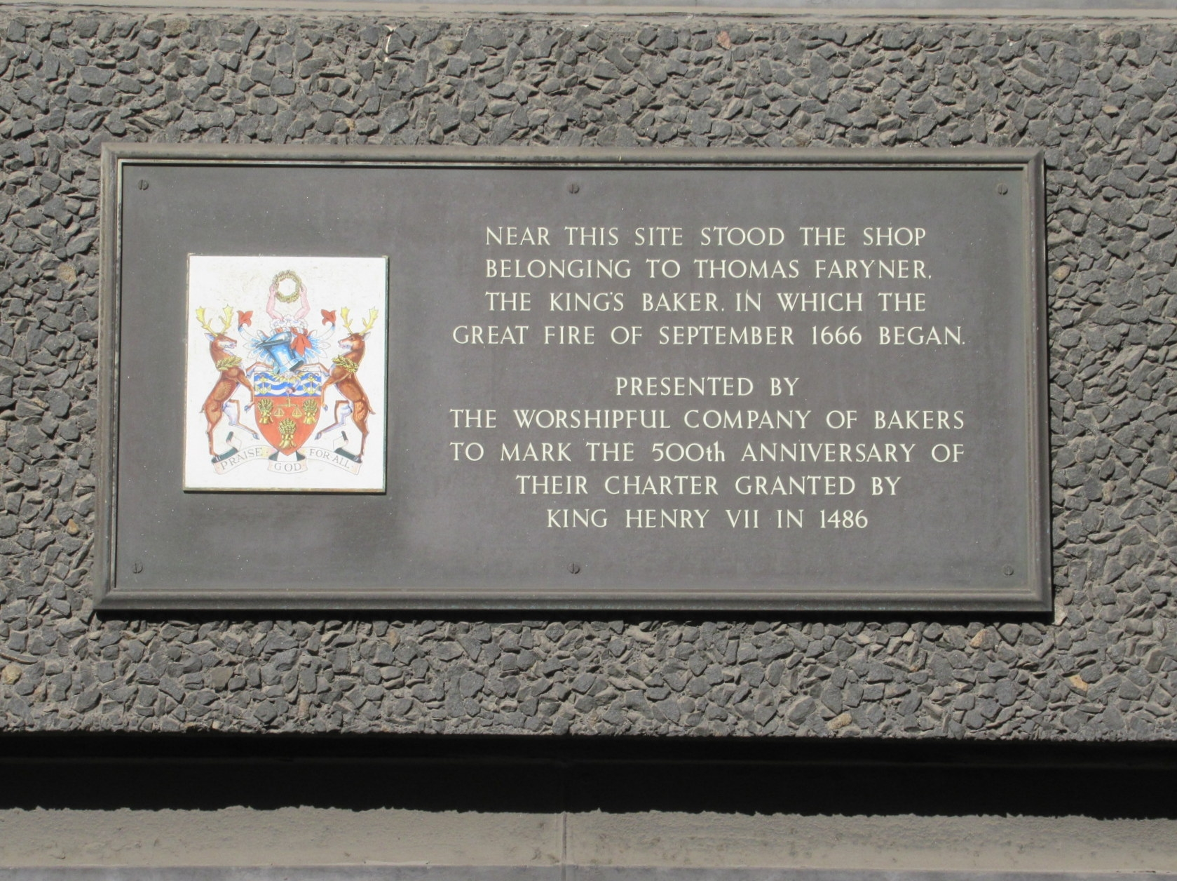 The King's Baker's Shop Marker