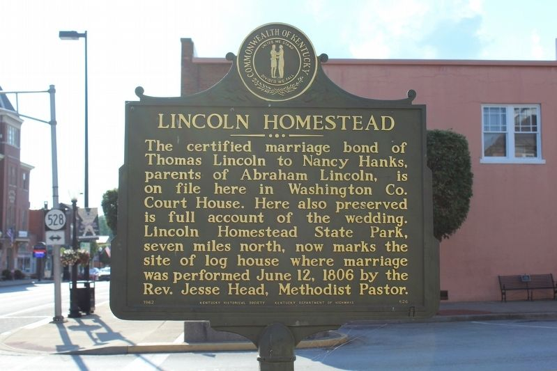 Lincoln Homestead Marker image. Click for full size.