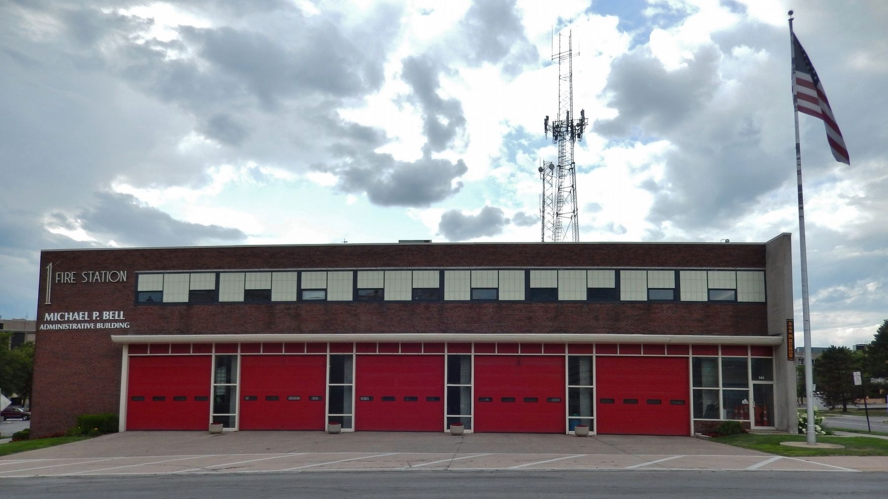Toledo Fire Station 1 (<i>located on North Huron Street, just northwest of marker</i>) image. Click for full size.