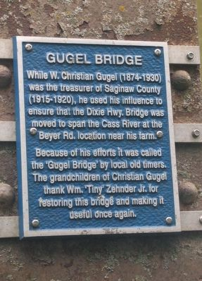 Gugel Bridge Marker image. Click for full size.
