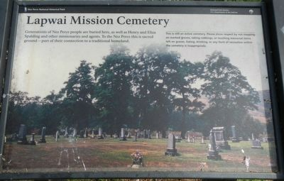 Lapwai Mission Cemetery Marker image. Click for full size.