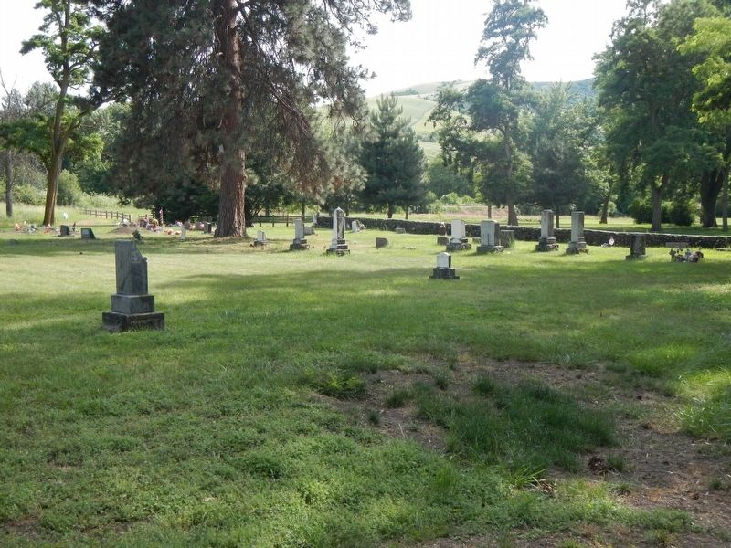 Lapwai Mission Cemetery and Marker image. Click for full size.