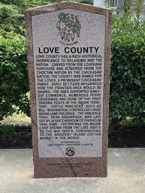Love County Marker image, Touch for more information