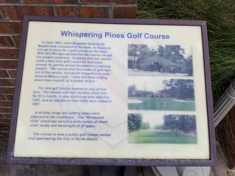 Whispering Pines Golf Course Marker image. Click for full size.