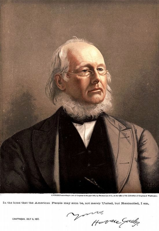 Horace Greeley<br>1872 image. Click for full size.