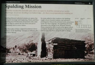 Spalding Mission Marker image. Click for full size.