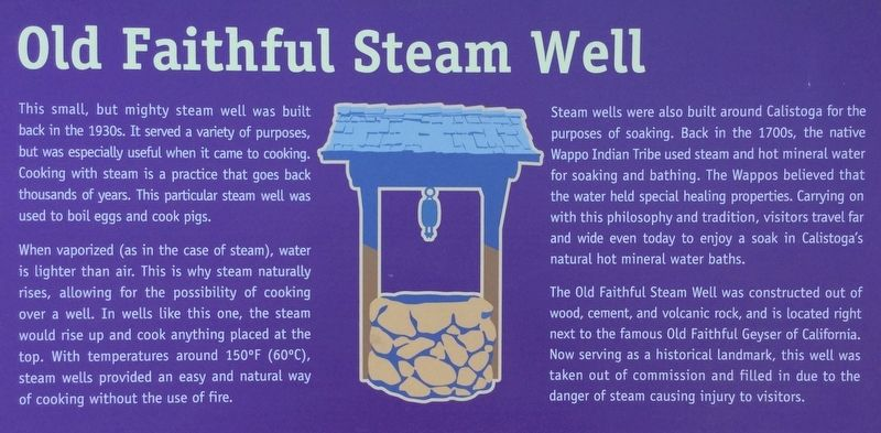 Old Faithful Steam Well Marker image. Click for full size.