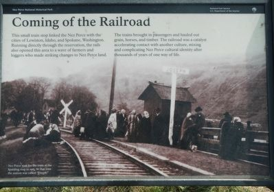 Coming of the Railroad Marker image. Click for full size.