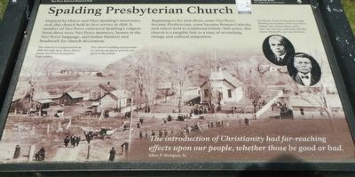 Spalding's Presbyterian Church Marker image. Click for full size.