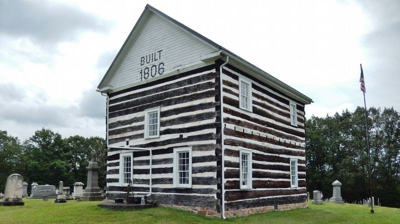 Old Log Church (1806) image. Click for full size.
