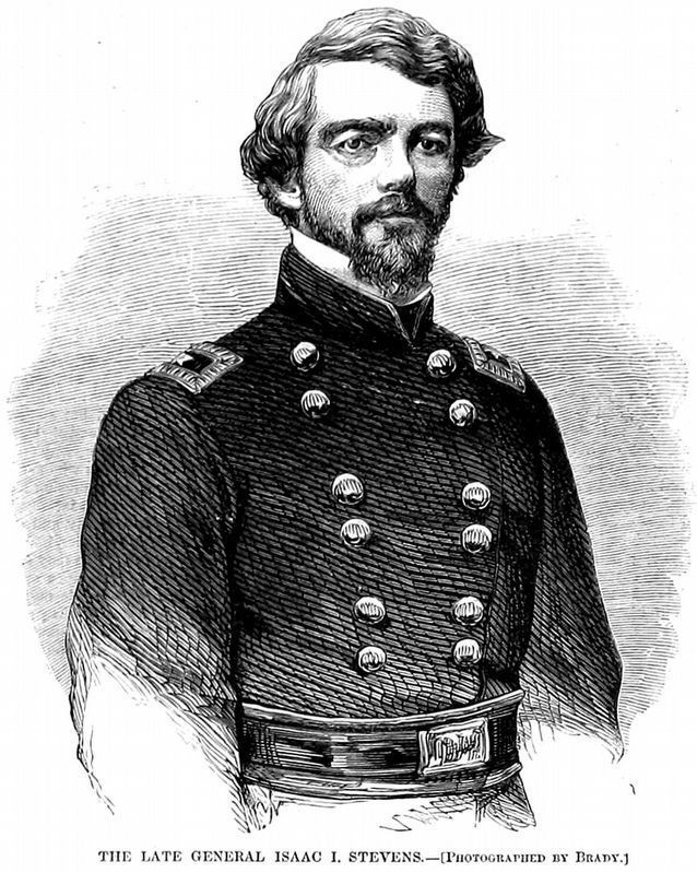 The Late Isaac I. Stevens<br><u>Harper's Weekly</u> Sept. 20, 1862 image. Click for full size.