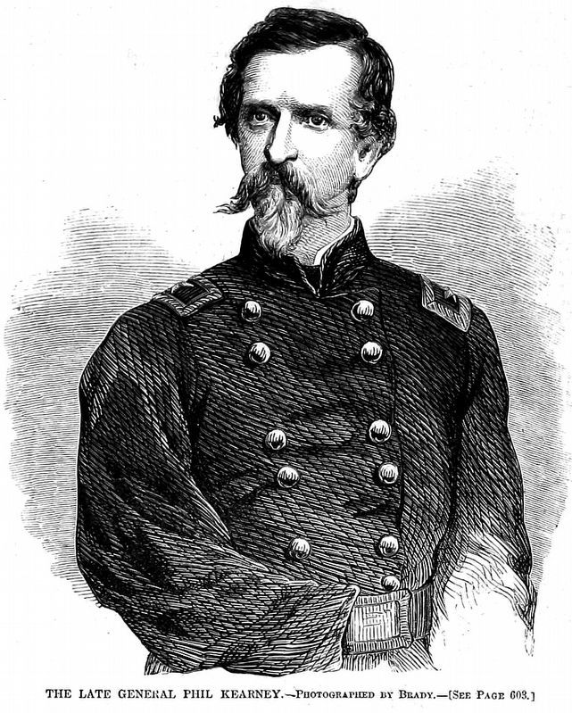 The Late General Phil Kearney<br><u>Harper&#39;s Weekly</u> Sept. 20, 1862. image. Click for full size.