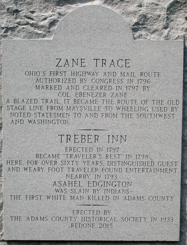 Zane Trace Marker image. Click for full size.