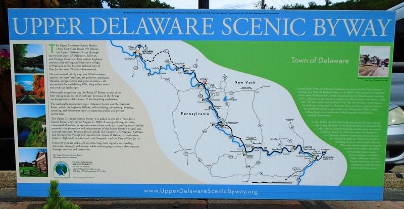 Town of Delaware Marker image. Click for full size.