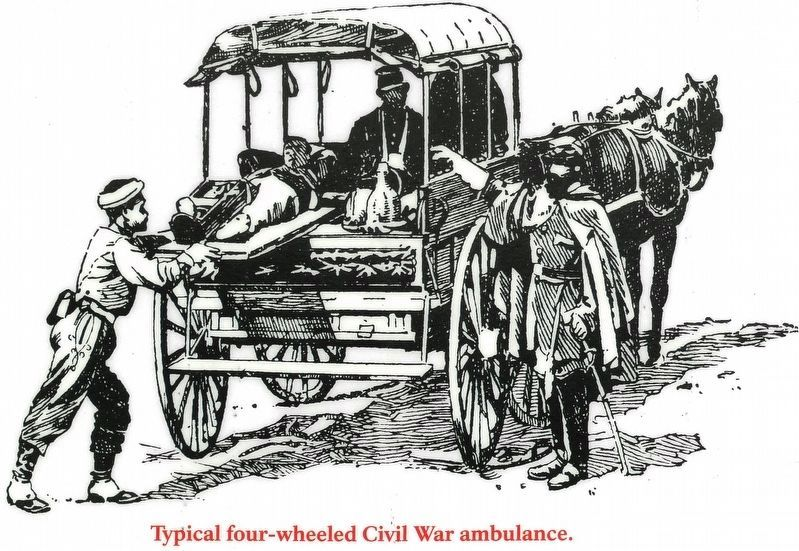 Typical Four-wheeled Civil War Ambulance image. Click for full size.