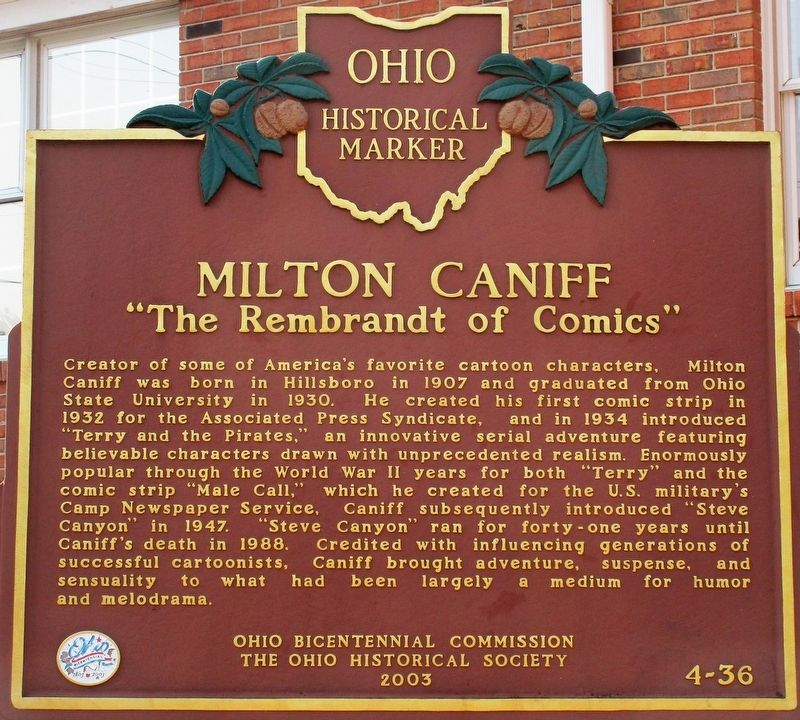 Milton Caniff Marker image. Click for full size.