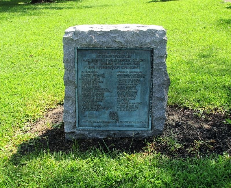 Byrd Township World War I DAR Monument Marker image, Touch for more information