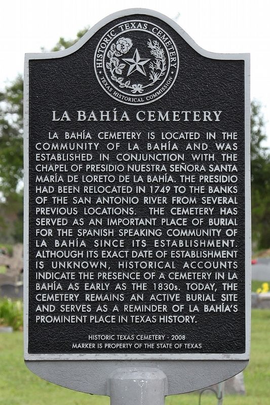 La Bahía Cemetery Marker image. Click for full size.
