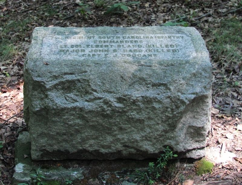7th South Carolina Infantry Marker image. Click for full size.