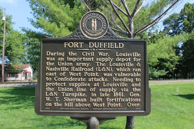 Fort Duffield Marker (Side 1) image. Click for full size.