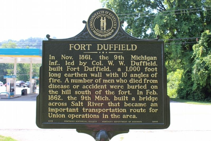 Fort Duffield Marker (Side 2) image. Click for full size.