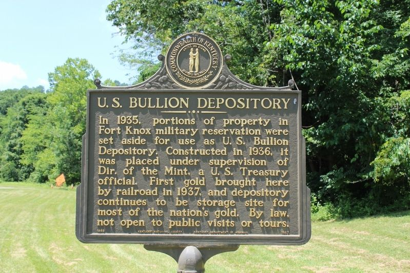U.S Bullion Depository Marker image. Click for full size.
