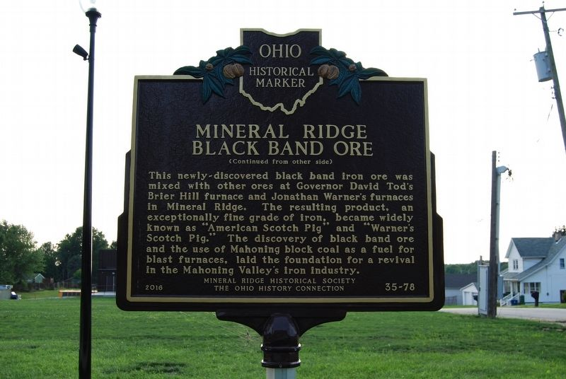 Mineral Ridge Black Band Ore Marker image. Click for full size.
