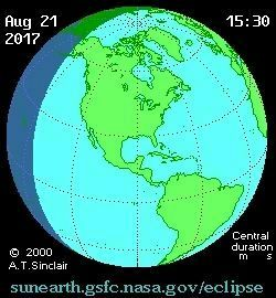 Animation of the solar eclipse of August 21, 2017 over north America image. Click for full size.